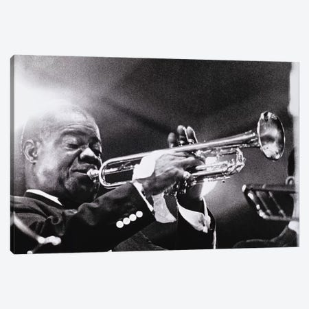 Louis Armstrong   Canvas Print #BMN8744} by American Photographer Canvas Wall Art