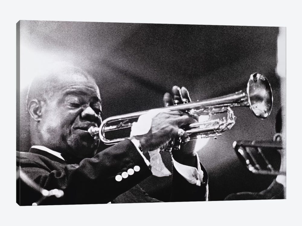 Louis Armstrong   by American Photographer 1-piece Canvas Art Print