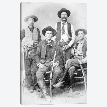 Texas Rangers armed with revolvers and Winchester rifles, 1890  Canvas Print #BMN8748} by American Photographer Art Print