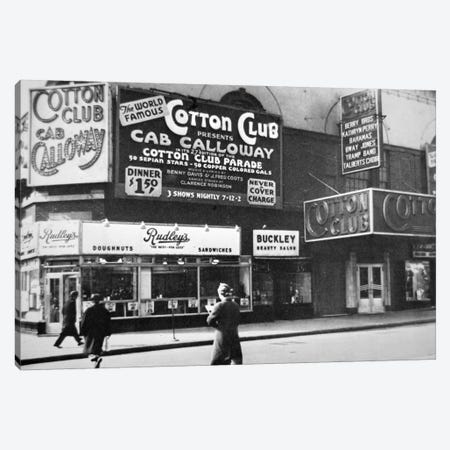 The Cotton Club in Harlem, New York City, c.1930  Canvas Print #BMN8749} by American Photographer Canvas Art Print