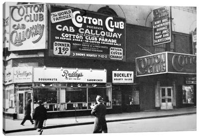 The Cotton Club in Harlem, New York City, c.1930  Canvas Art Print