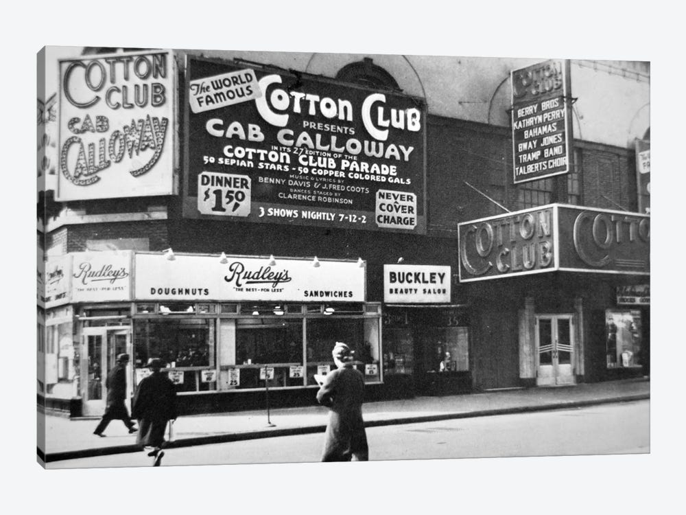 The Cotton Club in Harlem, New York City, c.1930  by American Photographer 1-piece Canvas Art