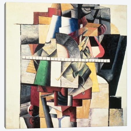 M. Matuischin  Canvas Print #BMN874} by Kazimir Severinovich Malevich Canvas Artwork