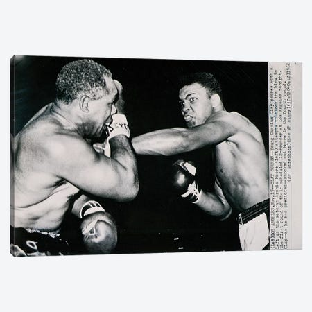 Young Cassius Clay against Archie Moore in the first round. Los Angeles, 15th November 1962  Canvas Print #BMN8750} by American Photographer Canvas Artwork