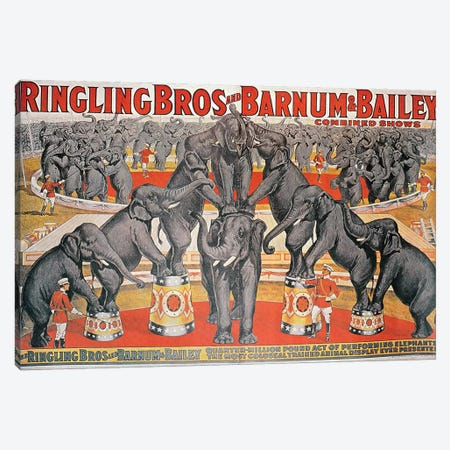 Barnum and Bailey Circus Poster  Canvas Print #BMN8753} by American School Canvas Art
