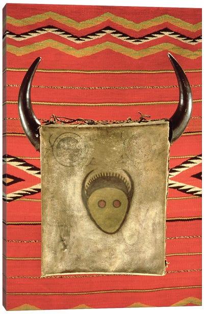 Navajo buffalo moon blanket, from Arizona  Canvas Art Print