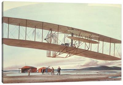 The Wright Brothers at Kitty Hawk, North Carolina, in 1903  Canvas Art Print
