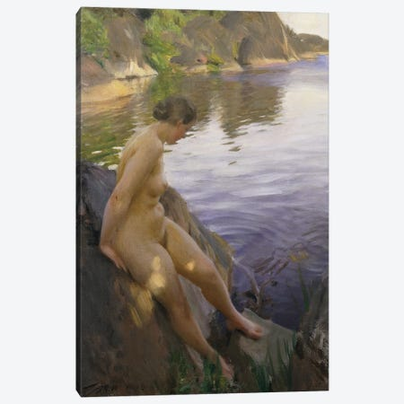 From Sandham; Fran Sandham, 1906  Canvas Print #BMN8773} by Anders Leonard Zorn Canvas Wall Art