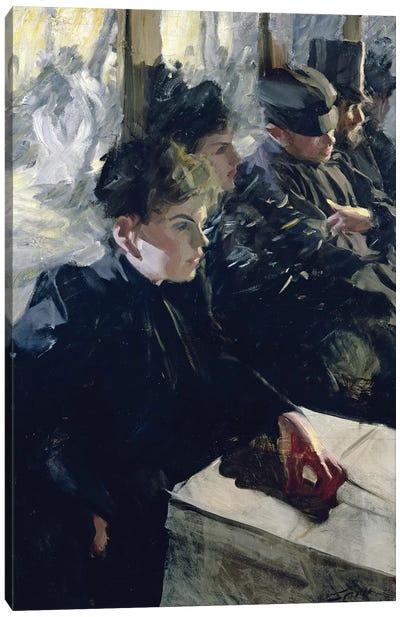 Omnibus I, 1895  Canvas Art Print