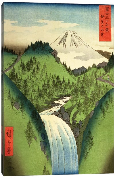 Fuji from the Mountains of Isu Canvas Art Print