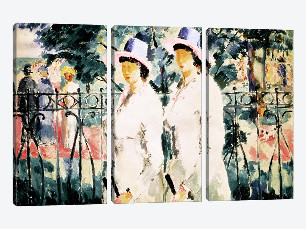 The Sisters by Kazimir Severinovich Malevich 3-piece Canvas Print