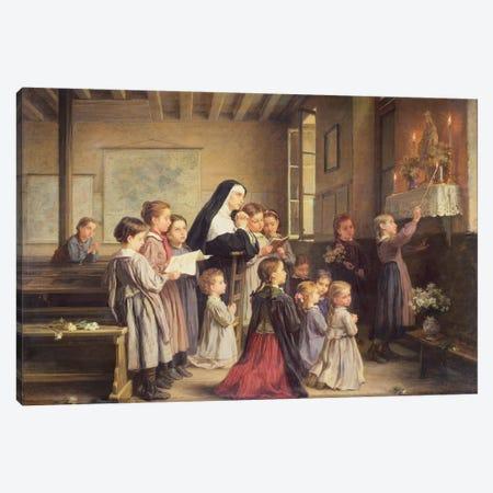 Morning Prayers Canvas Print #BMN8797} by Andre Henri Dargelas Canvas Print