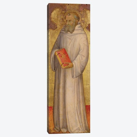 St. Benedict, Founder of Oldest Order  Canvas Print #BMN8798} by Andrea Di Bartolo Canvas Artwork