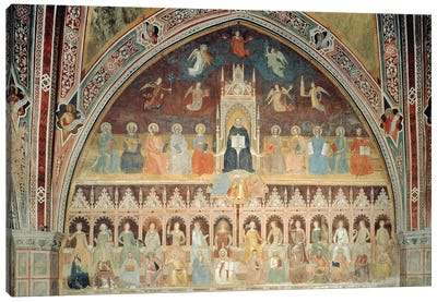 The Triumph of Catholic Doctrine, personified in St. Thomas Aquinas, from the Spanish Chapel, c.1365  Canvas Art Print