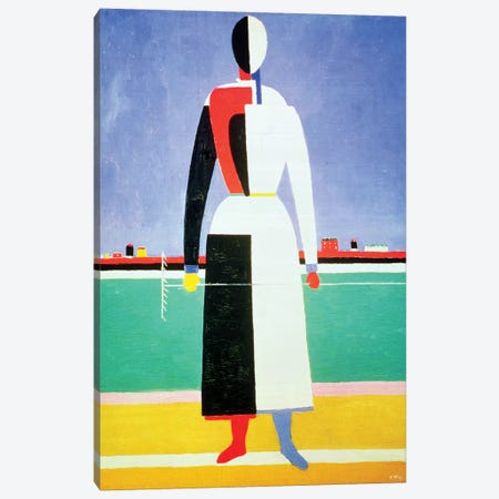 Woman With A Rake, c.1928-32  Canvas Print #BMN879} by Kazimir Severinovich Malevich Canvas Print