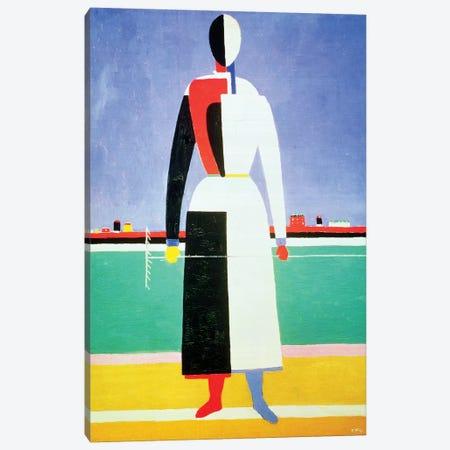 Woman With A Rake, c.1928-32  Canvas Print #BMN879} by Kazimir Severinovich Malevich Canvas Print