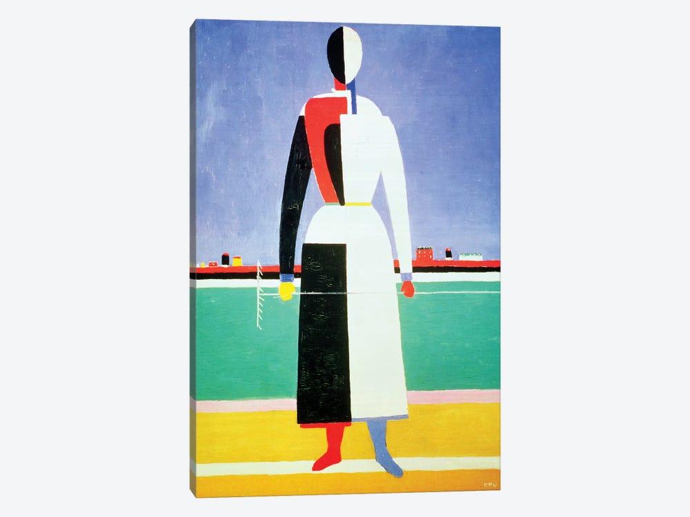 Woman With A Rake, c.1928-32  by Kazimir Severinovich Malevich 1-piece Canvas Artwork