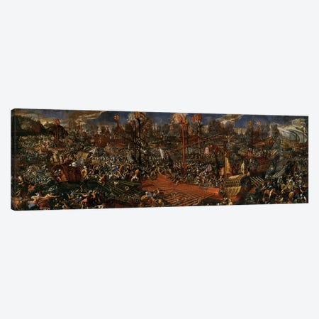 The Battle of Lepanto  Canvas Print #BMN8801} by Andrea Vicentino Canvas Wall Art