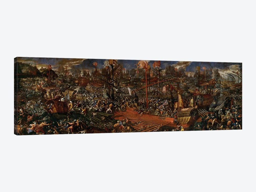 The Battle of Lepanto  by Andrea Vicentino 1-piece Canvas Wall Art