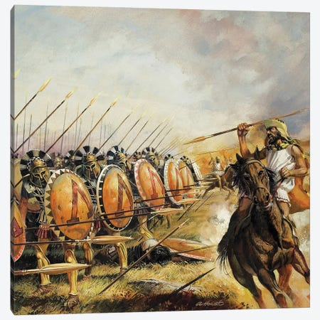 Spartan Army Canvas Print #BMN8806} by Andrew Howat Canvas Art Print