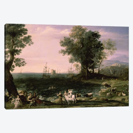 The Rape of Europa, 1655  Canvas Print #BMN880} by Claude Lorrain Canvas Wall Art