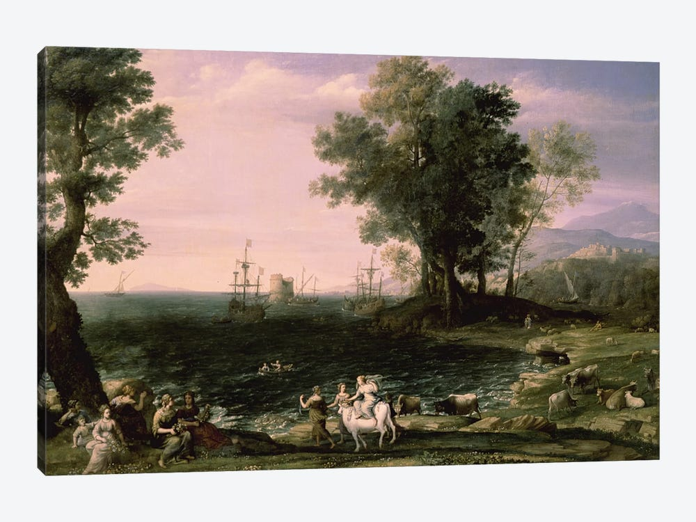 The Rape of Europa, 1655 (Pushkin Museum) by Claude Lorrain 1-piece Canvas Wall Art