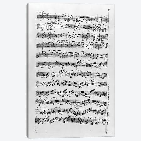 Copy of 'Partita in D Minor for Violin' by Johann Sebastian Bach    Canvas Print #BMN8816} by Anna Magdalena Bach Canvas Art