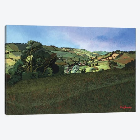 From Solsbury Hill  Canvas Print #BMN8818} by Anna Teasdale Canvas Print