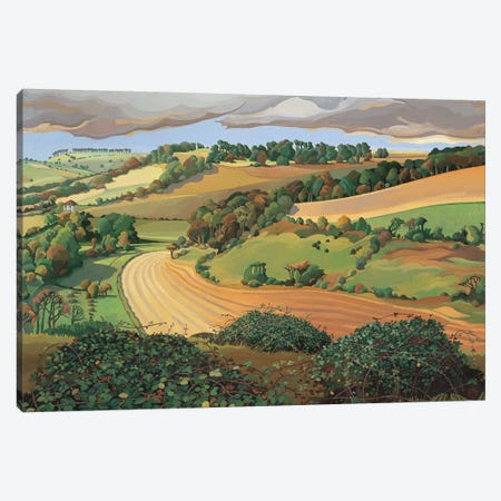 From Solsbury Hill  Canvas Print #BMN8819} by Anna Teasdale Canvas Print