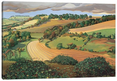 From Solsbury Hill  Canvas Art Print