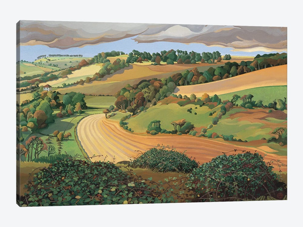 From Solsbury Hill  by Anna Teasdale 1-piece Art Print