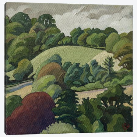 The Hill, Batheaston Canvas Print #BMN8823} by Anna Teasdale Canvas Artwork