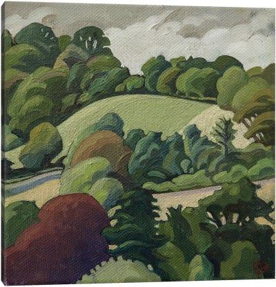 The Hill, Batheaston Canvas Art Print