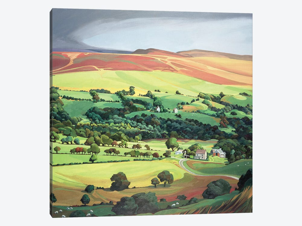 Welsh Valley  by Anna Teasdale 1-piece Canvas Print