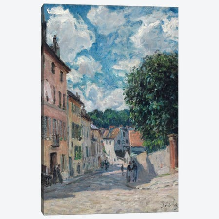 A Street, possibly in Port-Marly, 1876  Canvas Print #BMN8836} by Alfred Sisley Canvas Art