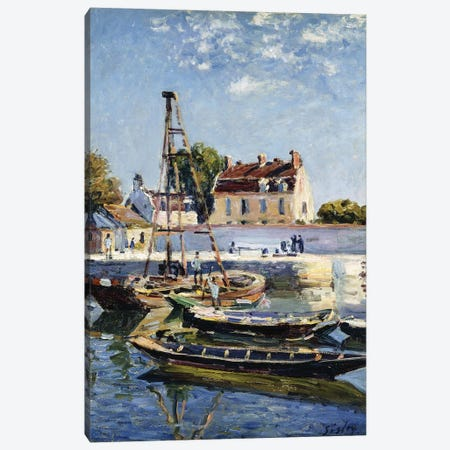 Barges, 1885  Canvas Print #BMN8837} by Alfred Sisley Canvas Wall Art