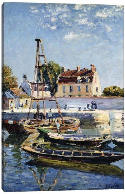 Barges, 1885  Canvas Art Print