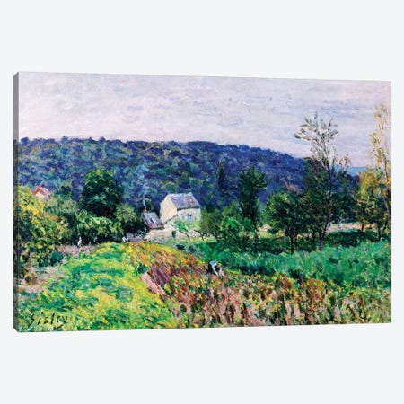 Hills Surrounding Paris, 1879  3-Piece Canvas #BMN8839} by Alfred Sisley Canvas Print