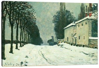 La Route de Louveciennes, Hiver, 1874  Canvas Art Print
