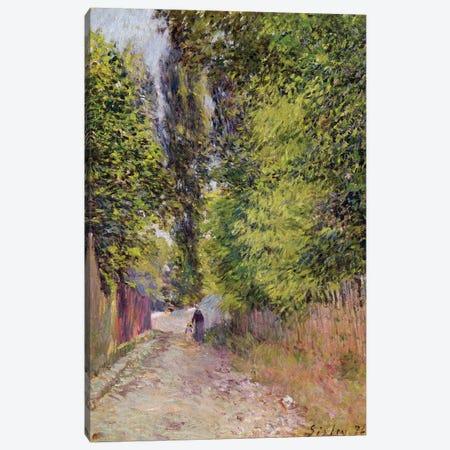 Landscape near Louveciennes, 1876  Canvas Print #BMN8842} by Alfred Sisley Canvas Art