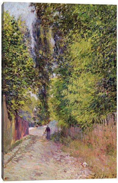 Landscape near Louveciennes, 1876  Canvas Art Print