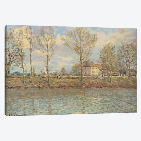 L'Ile de la Grande Jatte, Neuilly-sur-Seine, 1873  Canvas Print #BMN8843} by Alfred Sisley Canvas Artwork