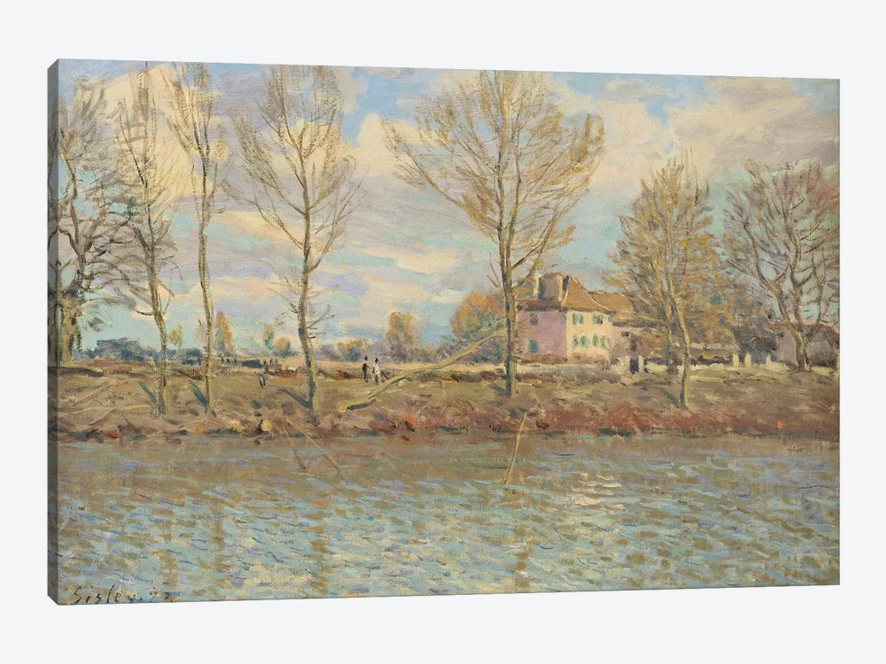 L'Ile de la Grande Jatte, Neuilly-sur-Seine, 1873  by Alfred Sisley 1-piece Canvas Artwork