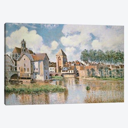 Moret-sur-Loing, the Porte de Bourgogne, 1891 Canvas Print #BMN8844} by Alfred Sisley Canvas Print