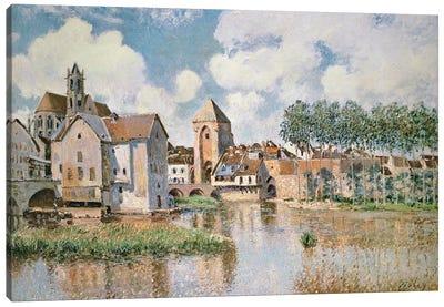 Moret-sur-Loing, the Porte de Bourgogne, 1891 Canvas Art Print