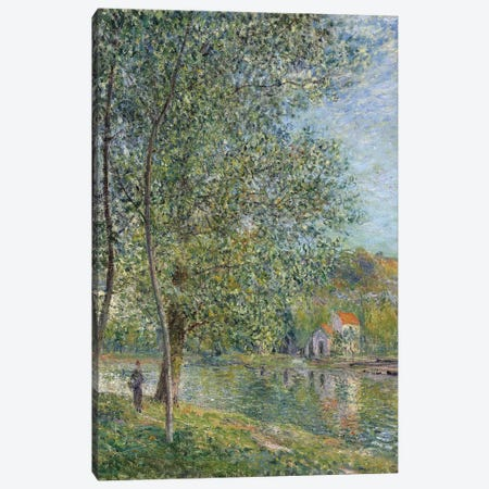 Matin pres du Loing, 1879  Canvas Print #BMN8845} by Alfred Sisley Canvas Art Print
