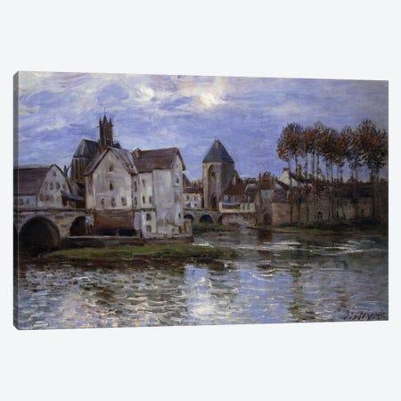 Le Pont de Moret au Soleil Couchant, 1892  Canvas Print #BMN8847} by Alfred Sisley Art Print