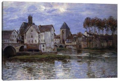Le Pont de Moret au Soleil Couchant, 1892  Canvas Art Print