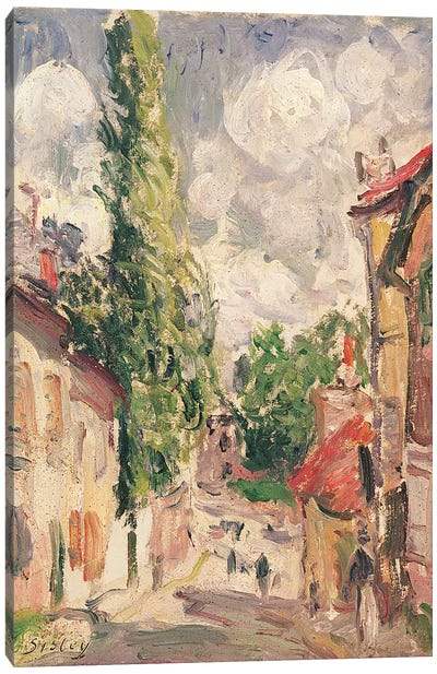 Road in a Village  Canvas Art Print