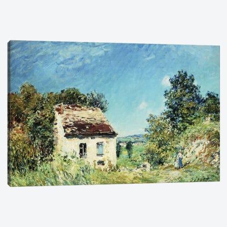 La Maison Abandonee, 1887  Canvas Print #BMN8851} by Alfred Sisley Art Print